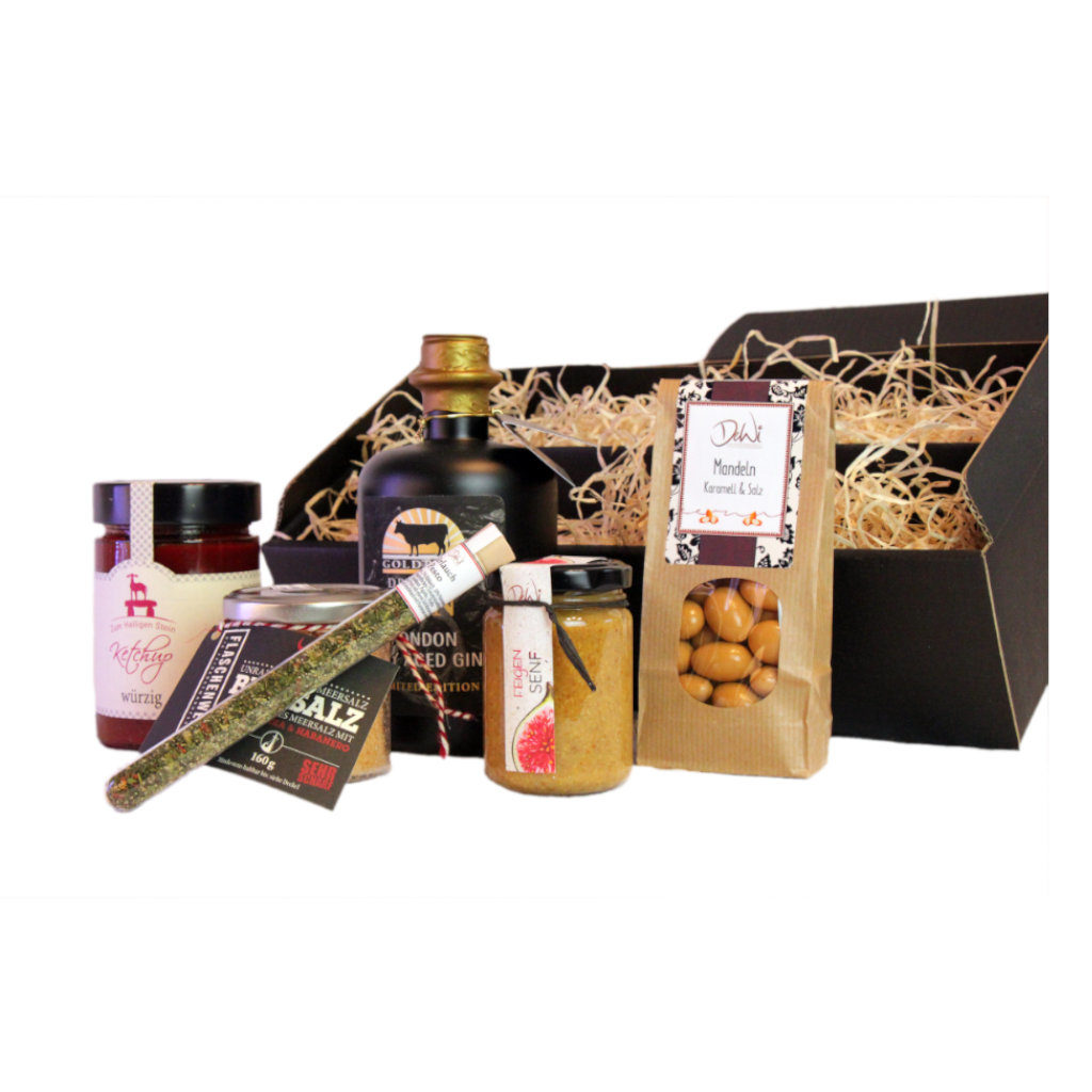 Geschenkbox Goldbeef Dry Gin herzhafte Geschenkbox